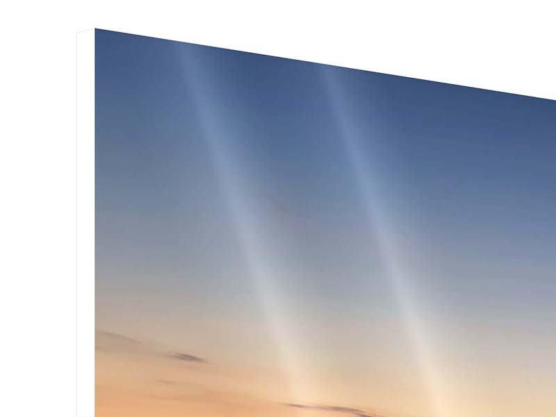 Panorama Hartschaumbild 3-teilig Der Steg