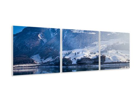 Panorama Hartschaumbild 3-teilig Winterwunderland