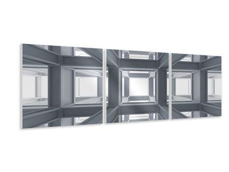 Panorama Hartschaumbild 3-teilig Räume