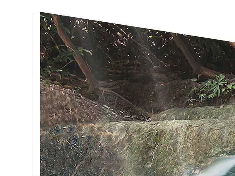 Panorama Hartschaumbild 3-teilig Am Fluss des Lebens
