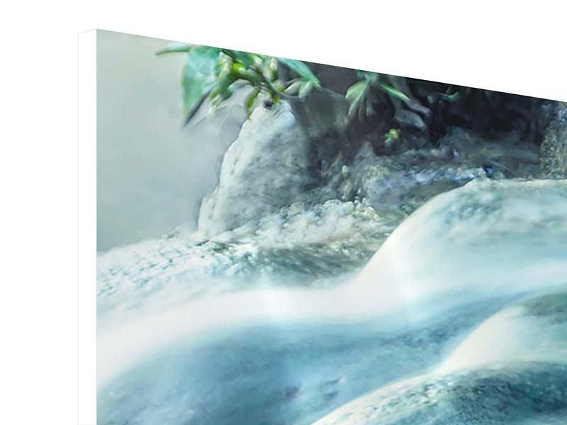 Panorama Hartschaumbild 3-teilig Das Fliessende Wasser
