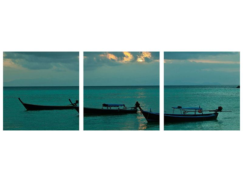 Panorama Hartschaumbild 3-teilig Ozean