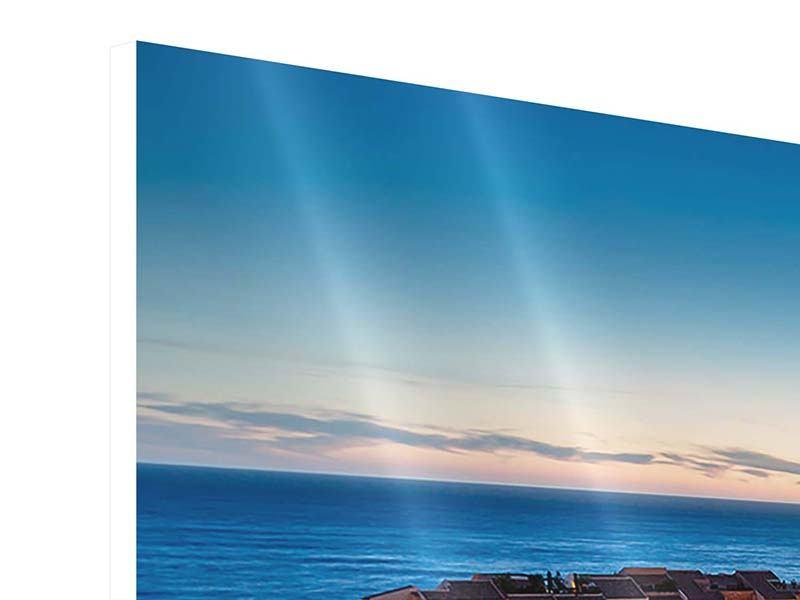 Panorama Hartschaumbild 3-teilig Monaco