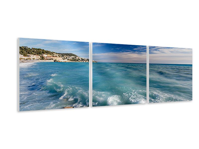 Panorama Hartschaumbild 3-teilig Cote D`Azur