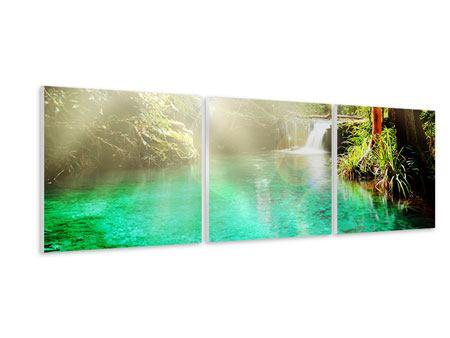 Panorama Hartschaumbild 3-teilig Die grüne Lagune
