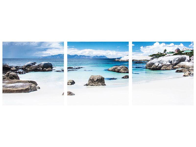 Panorama Hartschaumbild 3-teilig Inselfeeling
