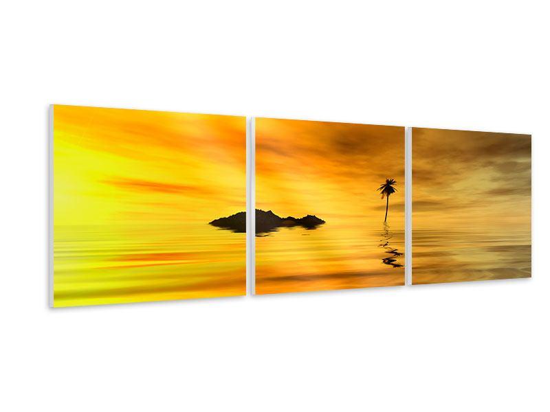 Panorama Hartschaumbild 3-teilig Ab auf die Insel