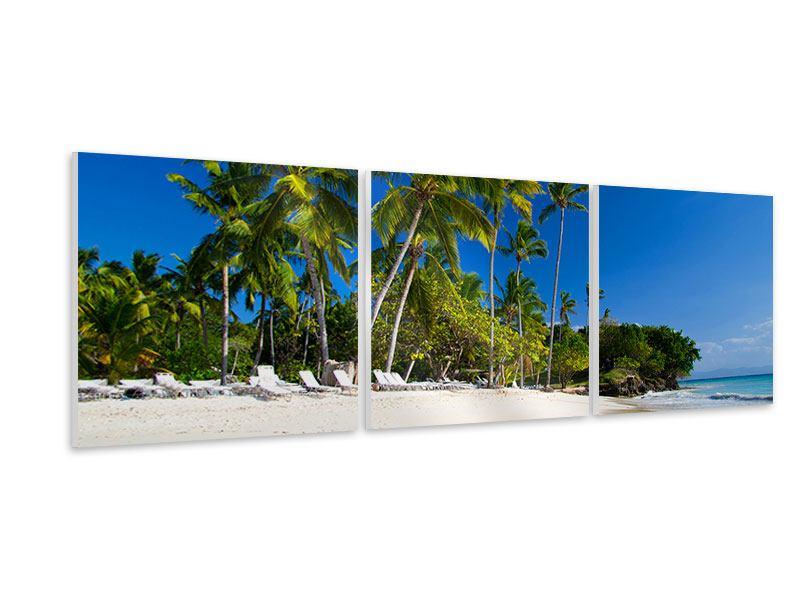 Panorama Hartschaumbild 3-teilig Aloha