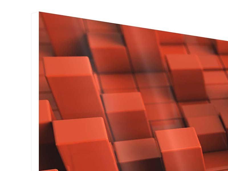 Panorama Hartschaumbild 3-teilig 3D-Rechtkant