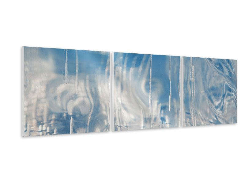 Panorama Hartschaumbild 3-teilig Das Eis des Baikalsees