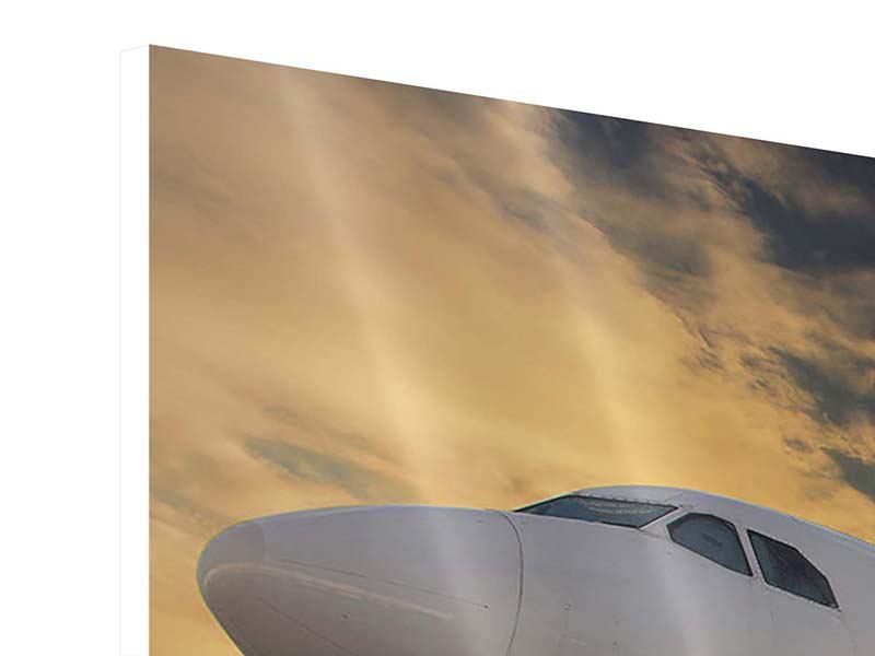 Panorama Hartschaumbild 3-teilig Jet