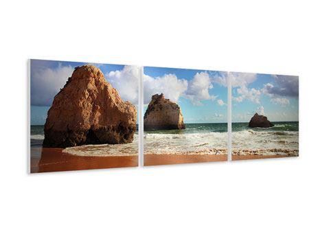 Panorama Hartschaumbild 3-teilig Strandgedanken