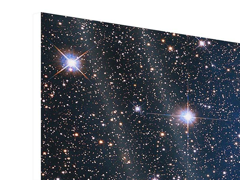 Panorama Hartschaumbild 3-teilig Sternenhimmel