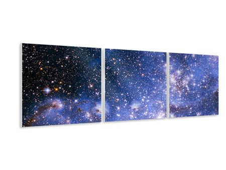 Panoramic 3 Piece Forex Print Starry Sky