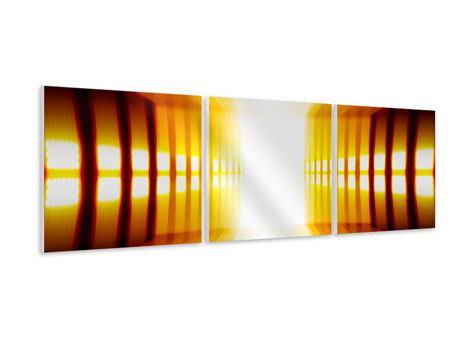 Panorama Hartschaumbild 3-teilig Abstrakter Goldener Raum
