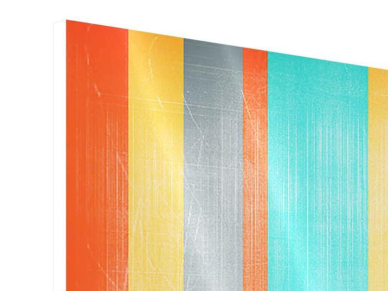 Panorama Hartschaumbild 3-teilig Grunge Streifen