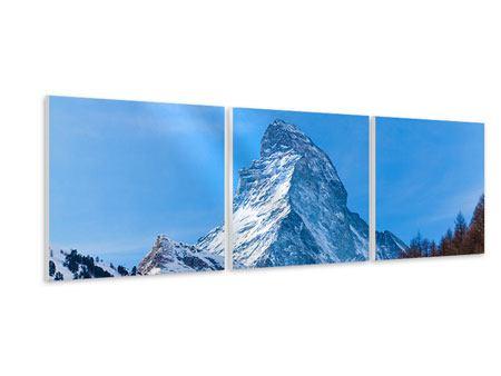 Panorama Hartschaumbild 3-teilig Das majestätische Matterhorn