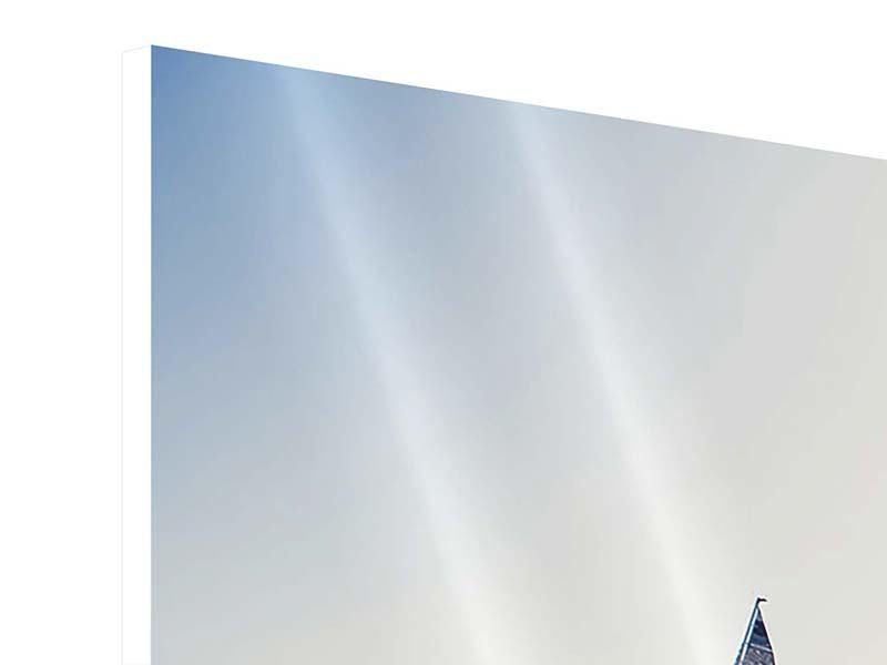Panorama Hartschaumbild 3-teilig Segelyacht