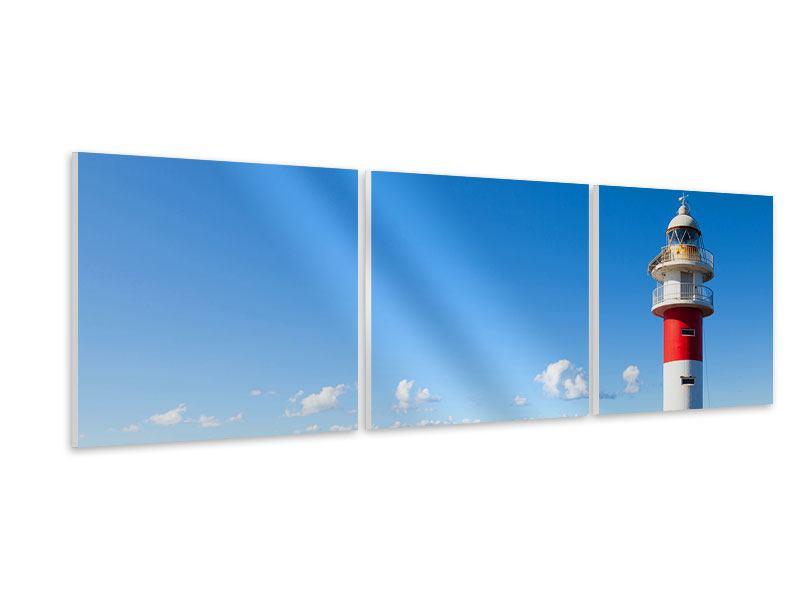 Panorama Hartschaumbild 3-teilig Leuchtturm in Punta Teno