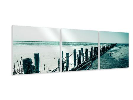 Panorama Hartschaumbild 3-teilig Das Wattenmeer