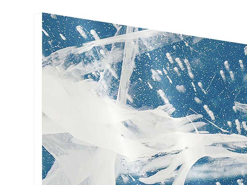 Panorama Hartschaumbild 3-teilig Eiskristalle