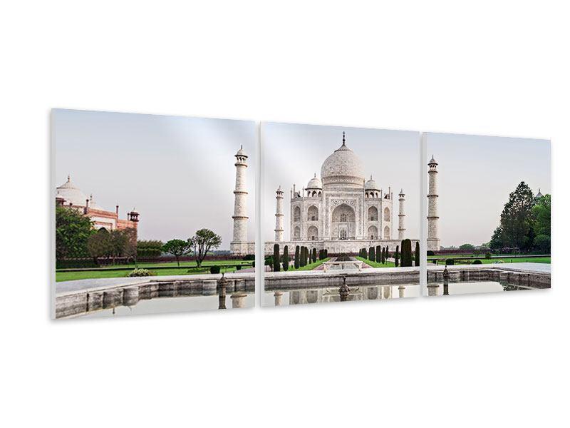 Panorama Hartschaumbild 3-teilig Taj Mahal