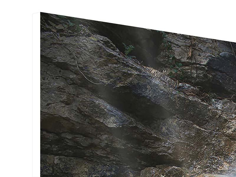 Panorama Hartschaumbild 3-teilig Imposanter Wasserfall