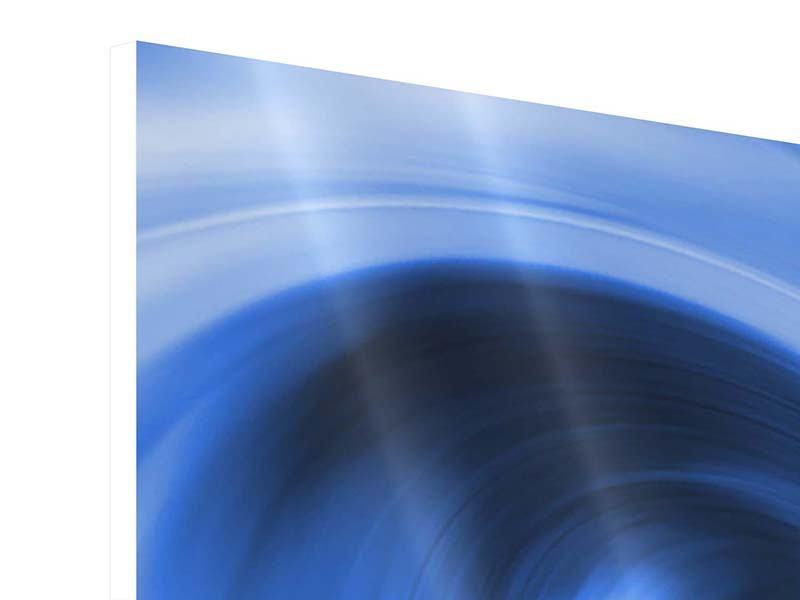 Panorama Hartschaumbild 3-teilig Abstrakte blaue Welle