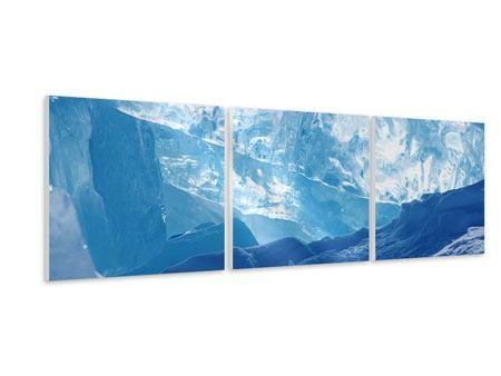 Panorama Hartschaumbild 3-teilig Baikalsee-Eis