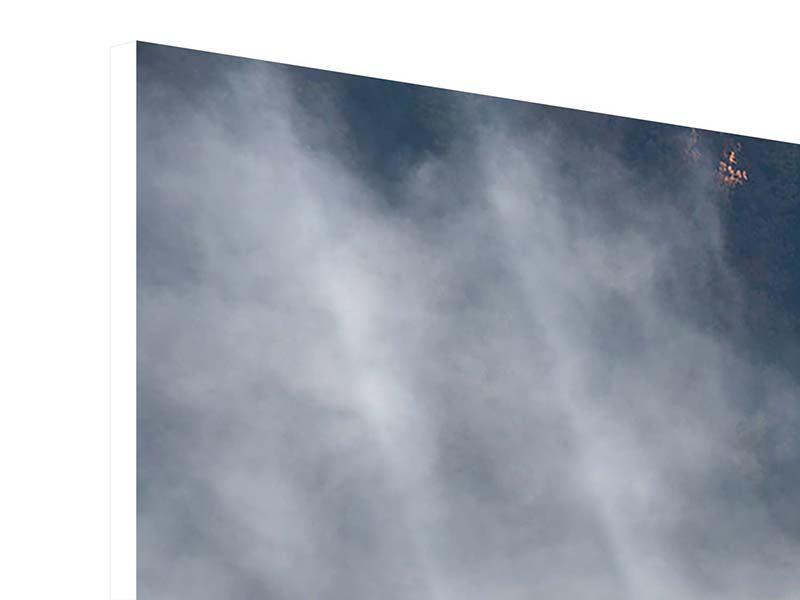 Panorama Hartschaumbild 3-teilig Mondscheinwald