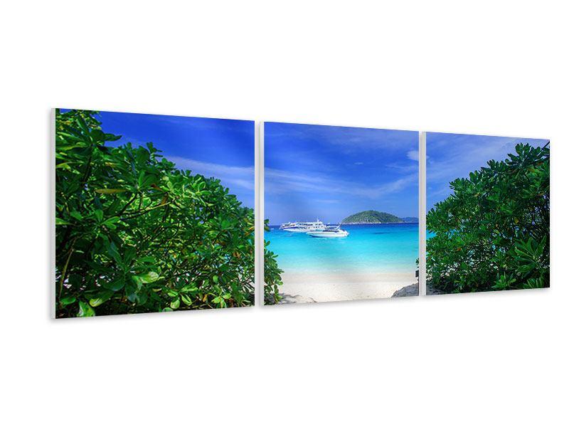 Panorama Hartschaumbild 3-teilig Similan-Inseln