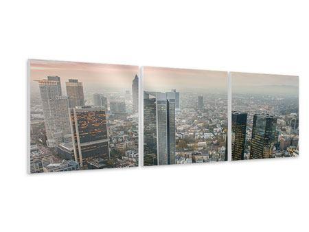 Panorama Hartschaumbild 3-teilig Skyline Penthouse in New York