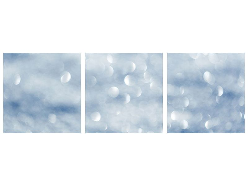Panorama Hartschaumbild 3-teilig Kristallglanz