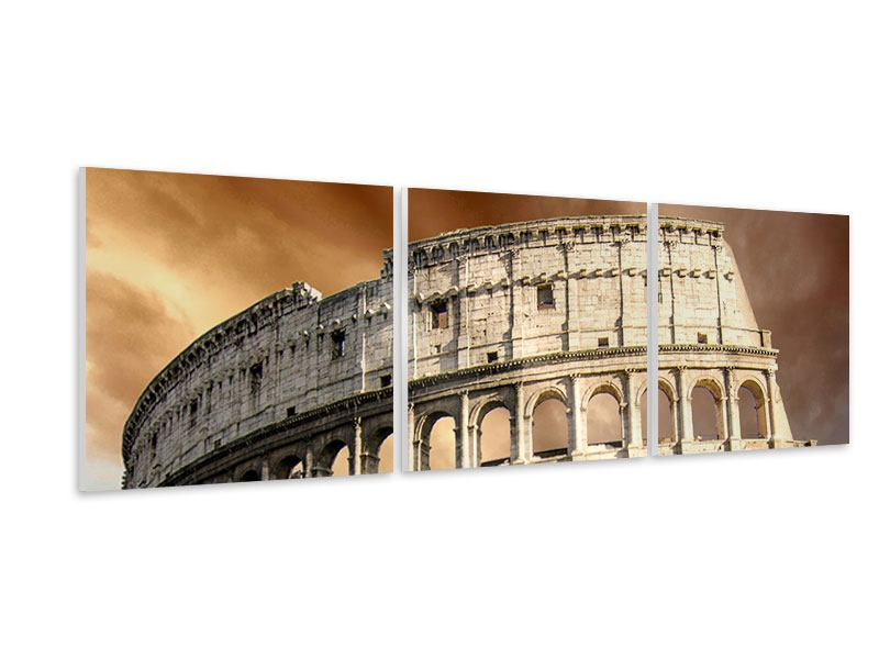 Panorama Hartschaumbild 3-teilig Kolosseum Rom