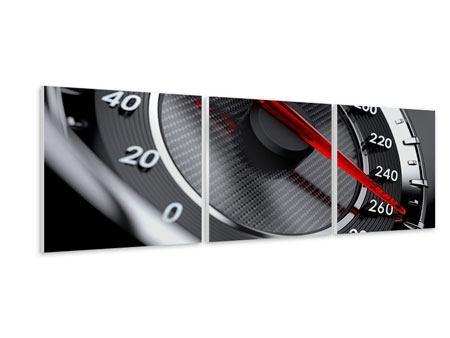 Panorama Hartschaumbild 3-teilig Geschwindigkeit