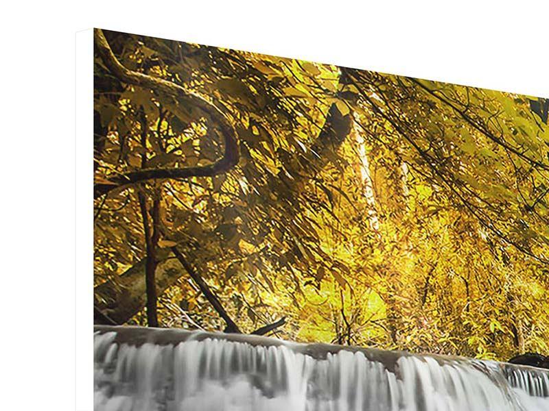 Panorama Hartschaumbild 3-teilig Wasser in Aktion