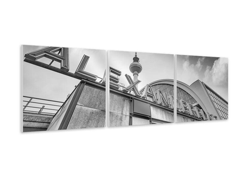 Panorama Hartschaumbild 3-teilig Alexanderplatz