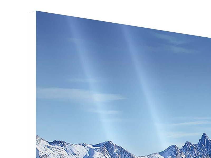 Panorama Hartschaumbild 3-teilig Gipfelspitzen