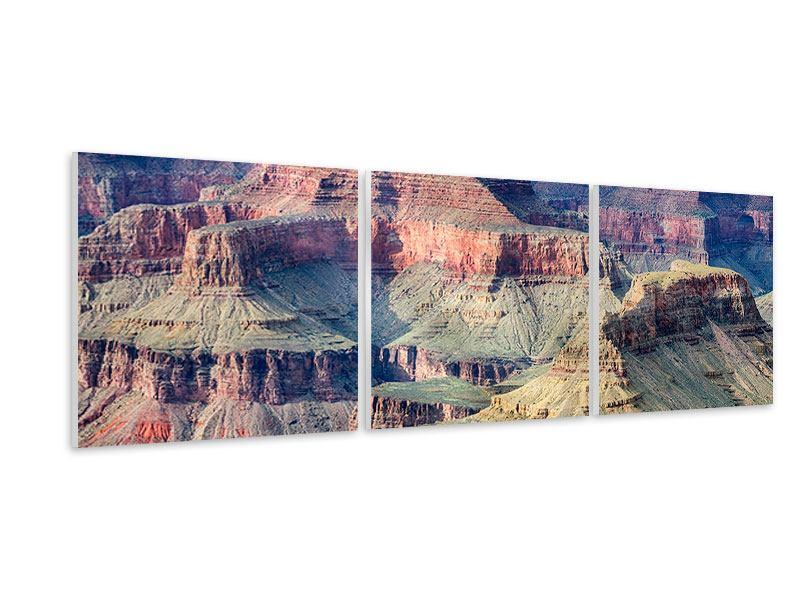 Panorama Hartschaumbild 3-teilig Gran Canyon