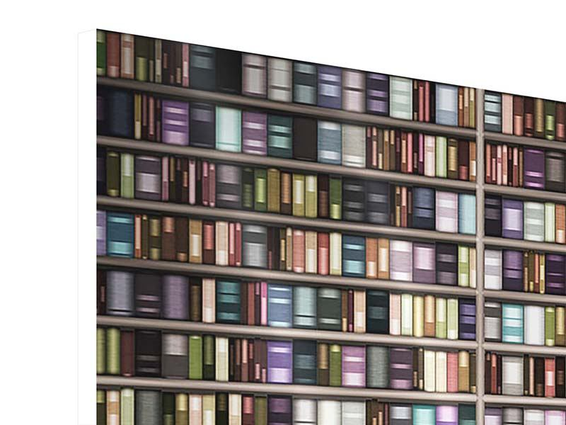 Panorama Hartschaumbild 3-teilig Bücherregal