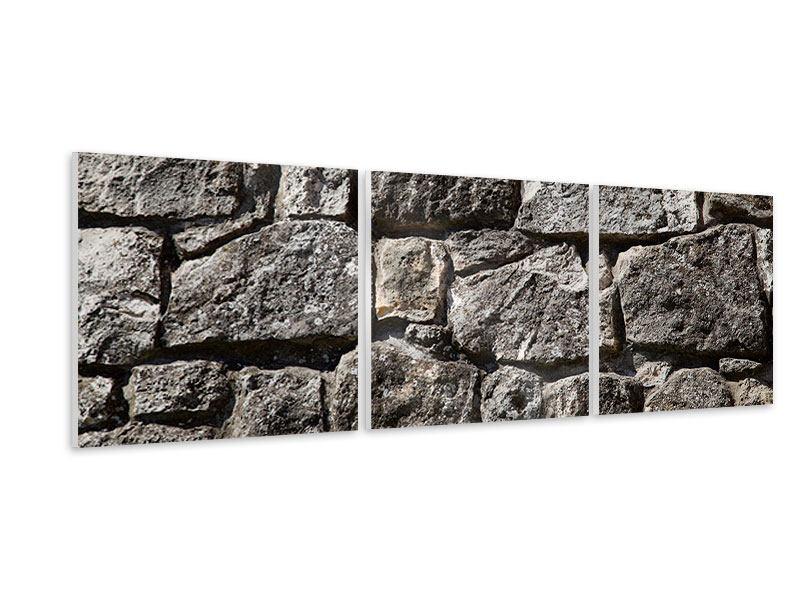 Panorama Hartschaumbild 3-teilig Grosses Mauerwerk