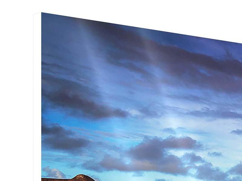 Panorama Hartschaumbild 3-teilig Traumhaus im Wasser