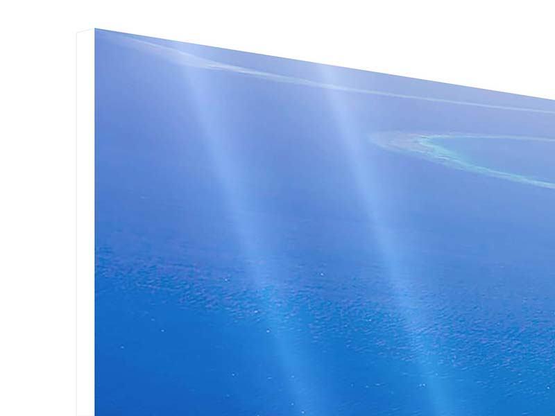 Panorama Hartschaumbild 3-teilig Reif für die Trauminsel
