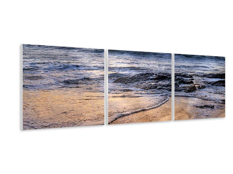 Panorama Hartschaumbild 3-teilig Das Meer