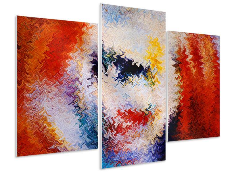 Hartschaumbild 3-teilig modern Wandmalerei