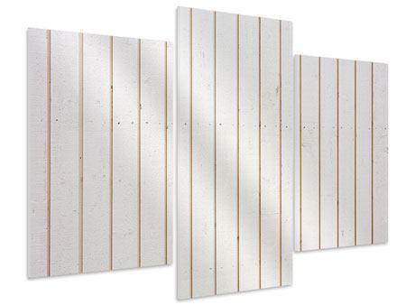 Hartschaumbild 3-teilig modern Mediterranes Holz