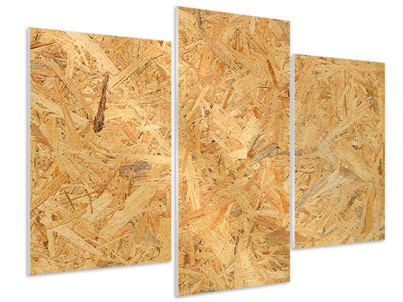 Hartschaumbild 3-teilig modern Gepresstes Holz
