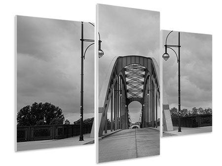 Hartschaumbild 3-teilig modern Poetische Brücke