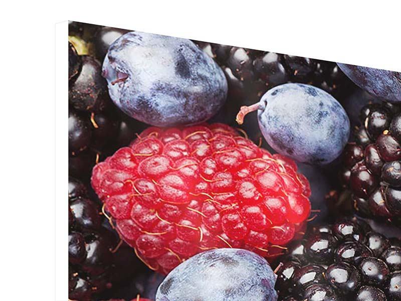 Hartschaumbild 3-teilig modern Beeren