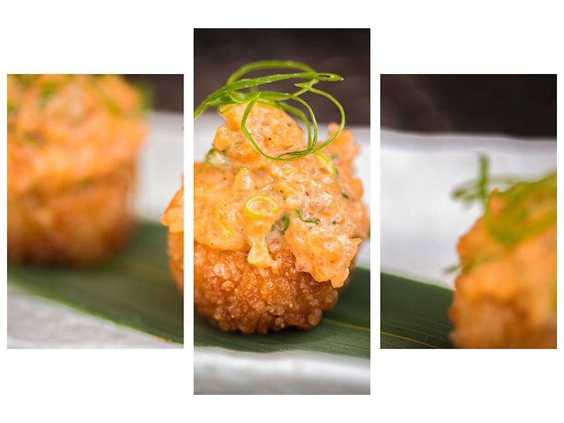Hartschaumbild 3-teilig modern Asiatische Küche
